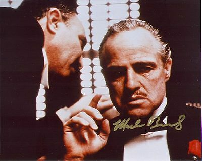 "1972 Godfather Signed 8X10"" Movie Photo Marlon Brando Reprint Autographed"