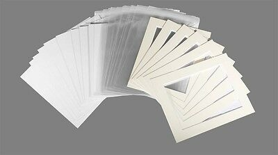 Picture mount Kits 20 A4 Mounts,backs,bags - Cream
