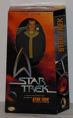 "New In Box!!! 1999 Star Trek Captain Christopher Pike 12"" Figure Classic Edition"