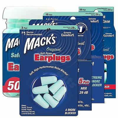 Macks Original Ear plugs Soft Foam Comfort Earplugs Noise Blocker Sleep Work