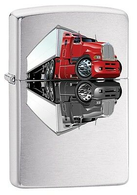 "ZIPPO ""TRUCK"" BRUSHED CHROME COLOR LIGHTER ** NEW in BOX **"