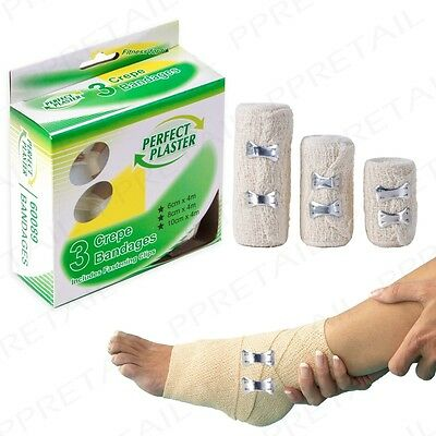 12M CREPE GRIP BANDAGES Knee/Leg/Arm/Elbow Sterile Muscle Injury/Sprain Support