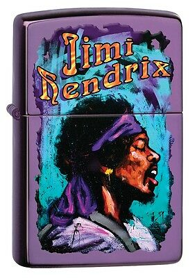 """Zippo """"jimi Hendrix"""" Polished Abyss Color Lighter ** New In Box ** Music"""
