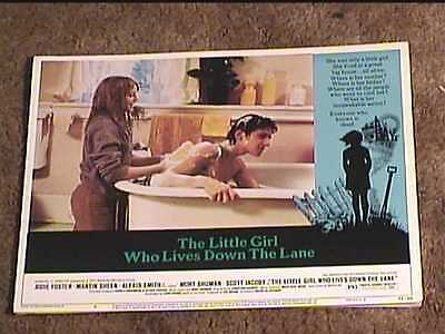 Little Girl Who Lives Down The Lane 1977 Lobby Card #8  Jodie Foster