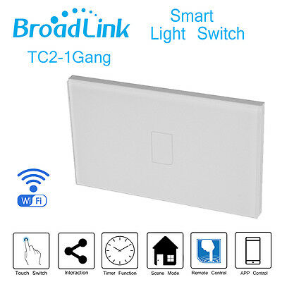 Broadlink TC2 1Gang Wireless Light Controller New Wifi Control Automation Switch