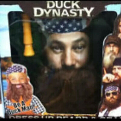 DUCK DYNASTY BEARD Jase Jep Brown Willie Robertson Role Play Set Halloween Call  sc 1 st  PicClick : jase robertson halloween costume  - Germanpascual.Com