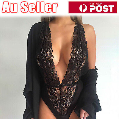 Sexy Fashion Women Lace Babydoll Underwear Bodysuit Lingerie Dress Sleepwear