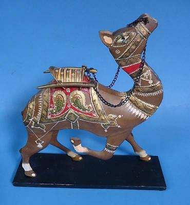 Cool Estate Find - Hand Painted Metal Dromedary Camel w/ Saddle and Reins