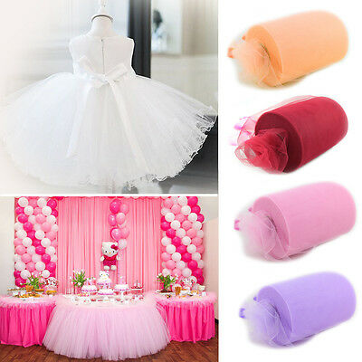 "6""x100 yards Tulle Roll Spool Tutu Fabric Netting Wraping Crafts Wedding Party"