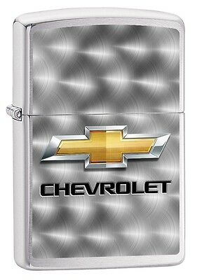 """Zippo """"chevrolet"""" Brushed Chrome Color Lighter ** New In Box ** Auto Car"""