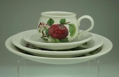 Pomona by Portmeirion Set of 4 in Hoary Apple Pattern Cup Saucer Plates VA137