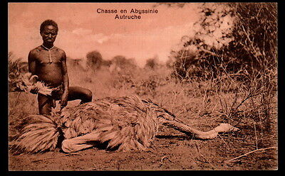 Z2690   Ethnic Black Africa  Abyssinia Ethiopia Well Created Hunter Postcard