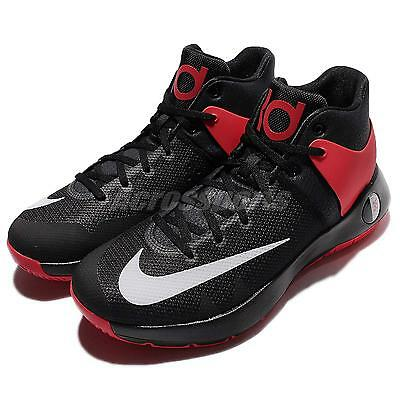 new styles 8e884 cfcd9 Nike KD Trey 5 IV EP 4 Kevin Durant Black Red Bred Mens Basketball 844573-