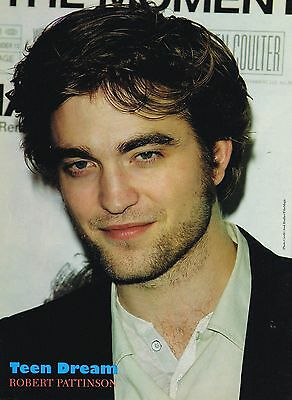 "ROBERT PATTINSON - NICE SMILE - 11"" x 8"" MAGAZINE PINUP POSTER - TEEN BOY ACTOR"
