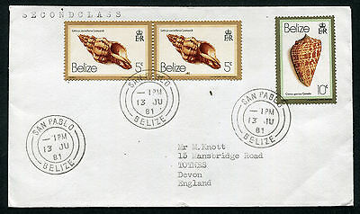 BELIZE: (13223) shells/SAN PABLO cancel/cover