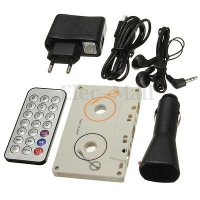 Vintage Car Tape Cassette EU SD MMC MP3 Player Adapter Kit With Remote Control
