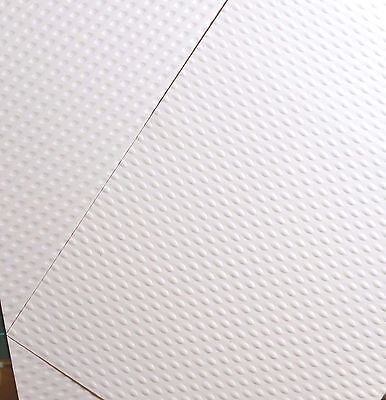 10 x A4 White Double Sided Dimple Textured Card 330gsm *NEW*