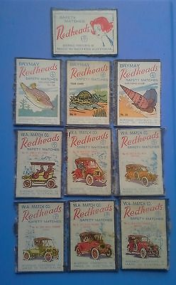 REDHEADS Safety Matchbox Labels