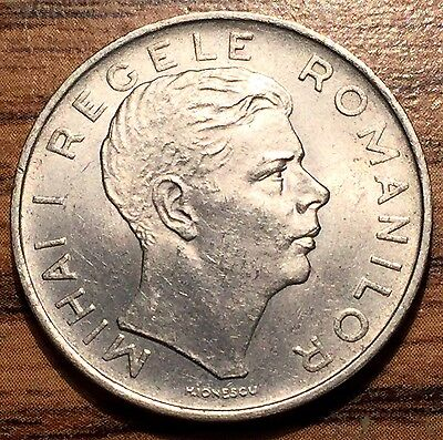 1943 Romania 100 Lei Mihai I Coin - UNC Condition