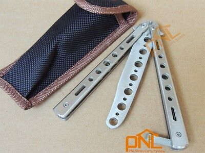 1PC White Trainer Butterfly Training Knife Trainer Tool With Free Pouch