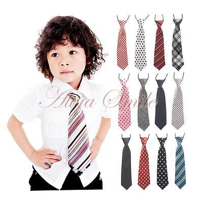 Chirldren Toddler Baby Kids Boys Ties Wedding Birthday Gentlemen Elastic Necktie