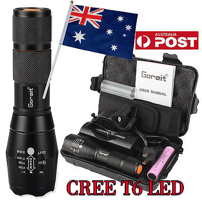 5000lm X800 ShadowHawk T6 Tactical Flashlight LED Military Grade Torch 2X 18650