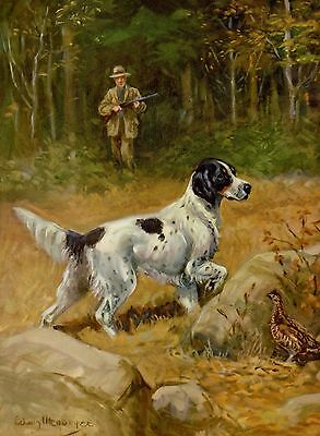 Vintage ENGLISH SETTER Print 1950s Dog Gallery Wall Art Gift for Dog Lover 1694