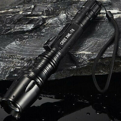 Bright 8000LM CREE XM-L T6 LED ZOOMable Adjustable Focus Flashlight Torch Lamp