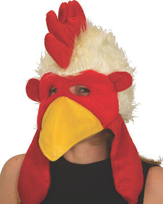 Funny Velvet Chicken Rooster Party Hat Cap Costume Accessory