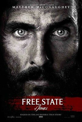 Free State of Jones - original DS movie poster - 27x40 D/S Adv McConaughey