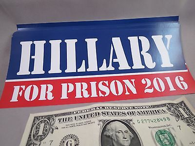 WHoLESALE LOT OF 20 HILLARY CLINTON FOR PRISON 2016 BUMPER STICKERS DECAL ANTI r