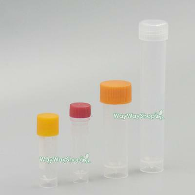 Plastic Screw Test Tube Vial seal Cap sample Pack container 1.5 1.8 5 10 ml labs