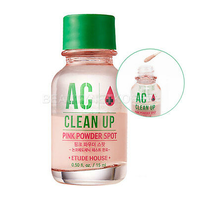 [ETUDE HOUSE] AC Clean Up Pink Powder Spot 15ml / Soothing spot treatment