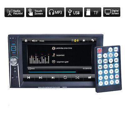 Car 2 DIN 7'' Bluetooth Touch Screen Stereo Radio FM MP5 MP3 USB AUX Player USB