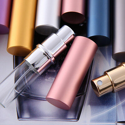 1pc Color Mini 5ml Metal Glass Refillable Perfume Bottle Travel Spray Atomizer C