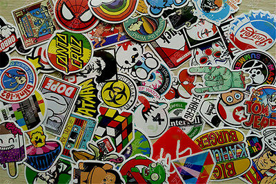 50 Pieces Stickers Skateboard Sticker Graffiti Laptop Luggage Car Decals mix AU