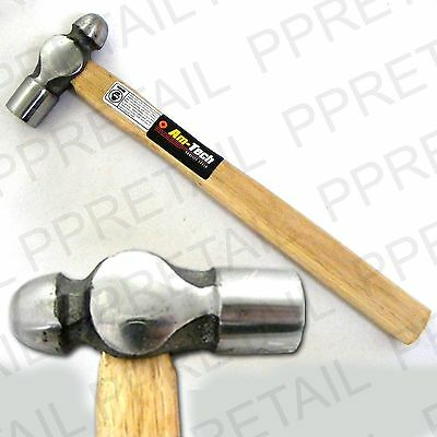 "LONG 11"" PEIN HARDWOOD HAMMER Slim Wood Shaft HEAVY 8oz HEAD Round/Ball End"