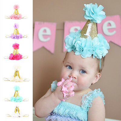 Kids Girl Baby Toddler Birthday Party Headband Hair Band Accessories Headwear