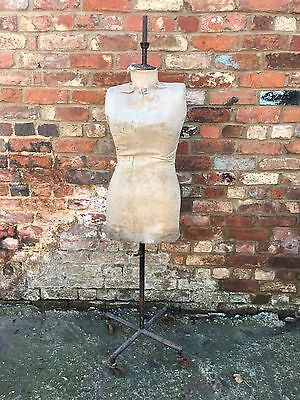 Vintage Factory Industrial Mannequin Dummy Dressmaker Shop Display Shabby