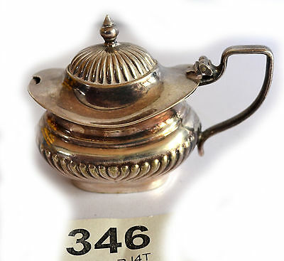 Vintage/Antique Silver Plate Lidded Mustard Pot. Stamped Made In England Epns.