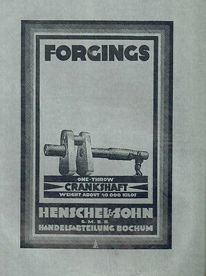 Orig.henschel Werbung  Forgings - Crankshafts Weight About 40000 Kilos (Agk1059)