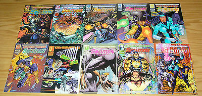 the Solution #0 & 1-17 VF/NM complete series - james hudnall - malibu ultraverse