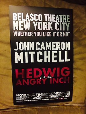 HEDWIG AND THE ANGRY INCH Window Card Poster JOHN CAMERON MITCHELL LENA HALL HAL