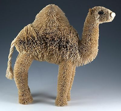 "Brushart Camel Bottle Brush Bristle Animal Figurine 7.5"" Natural Buri Palm"