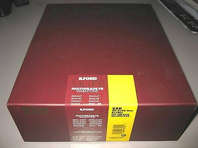 "Ilford MGFB Multigrade FB Warmtone 8"" x 10"" x 250 Black & White Semi-Matte Paper"