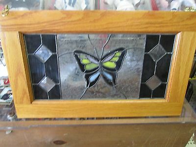 Stained Glass Butterfly Window Panel