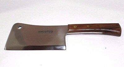 Butcher Knife by Amcutco Chef Meat Cleaver Stainless Steel Brazil Vintage Blade