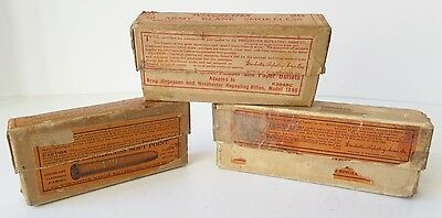 Vintage Winchester Lot of 3 Smokeless Soft Point Army Blank 2 Piece Shell Boxes