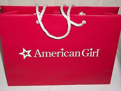 American Girl Authentic Large Red Shopping Bag with AG Tissue Paper