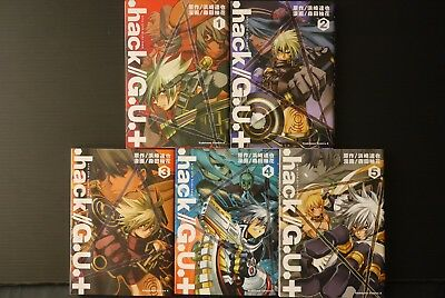 .hack//G.U.+ Manga 1~5 Complete Set OOP Japan book
